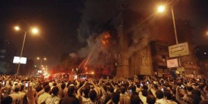 A Muslim Brotherhood Mob Torches an Egyptian Christian Church Last Week