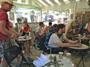 Burning Man Cafe Du Monde