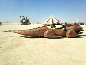 Burning Man Lizard car