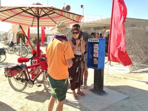 Burning Man pay phone