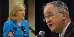Del. Barbara Comstock and Del. Bob Marshall, sitting legislators campaigning for the 10th District Congressional Nomination