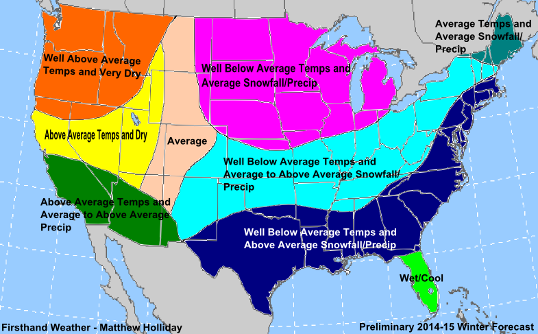 Winter  Weather Forecasts By State And Canada  The Bull - Us average winter temperature map