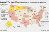 Amazon Tax Map–States Collecting Tax On Amazon Purchases