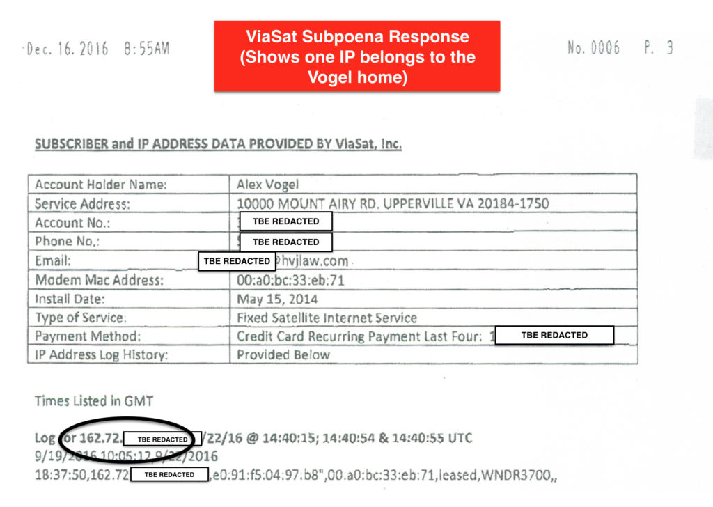 ViaSat Subpoena Response - Revised Redactions
