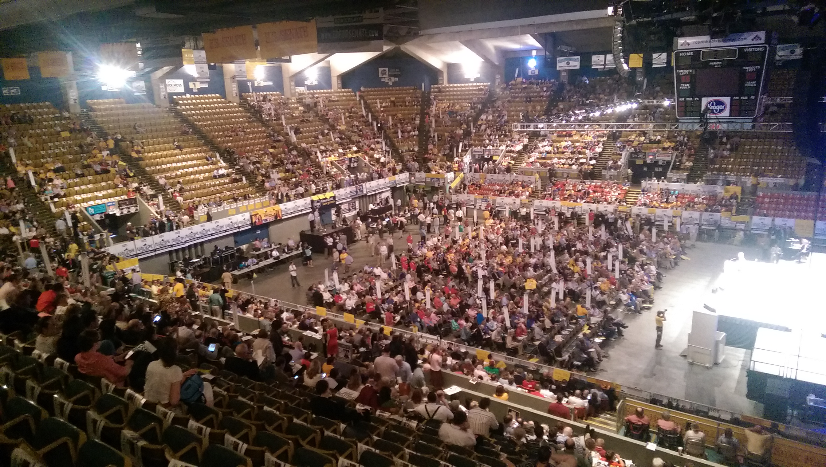 Scene from the 2014 Convention in Roanoke.