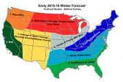Weather Predictions Winter 2015/2016