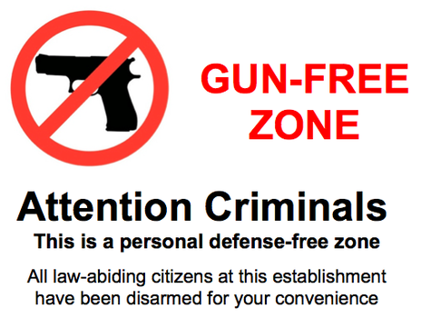 gunfree zone criminals stay away from gun free zones, they're dangerous! the bull elephant,Gun Free Zone Meme