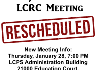 LCRC Meeting Cancelled Monday Night, Rescheduled for Thursday