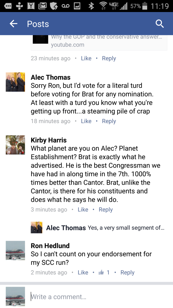 What Alec Thomas thinks of his Congressman