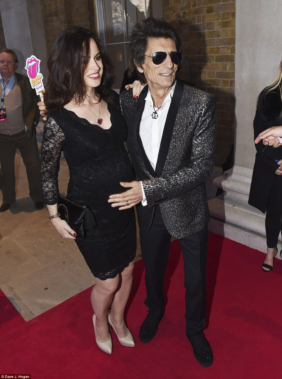 Ronnie Wood and wife