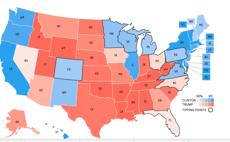 Maryland Now the Bluest of Blue States, Alabama the Reddest ...