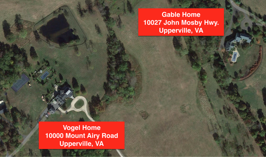 Proximity between Vogel and Gable Homes - Upperville, VA