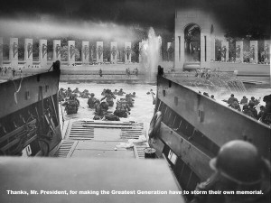 WWII Vets storm their Memorial