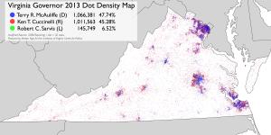 Dot density map VA 2013