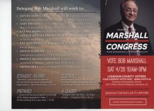 Bob Marshall mailer 2