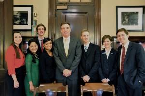 Sen. Warner and his 2013 Interns