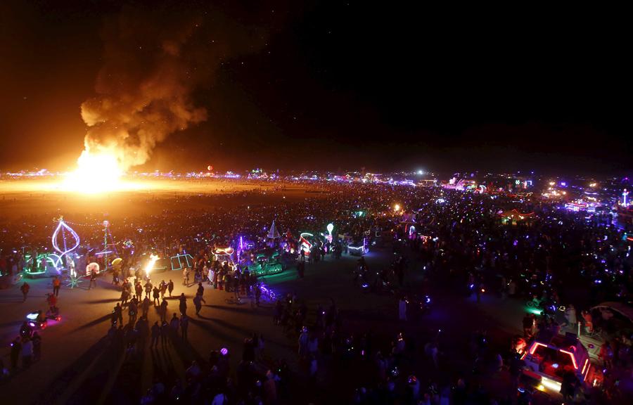 Burning man burns