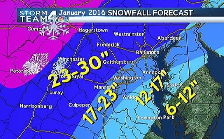 Nova Snowfall Forecast For January 2016 The Bull Elephant