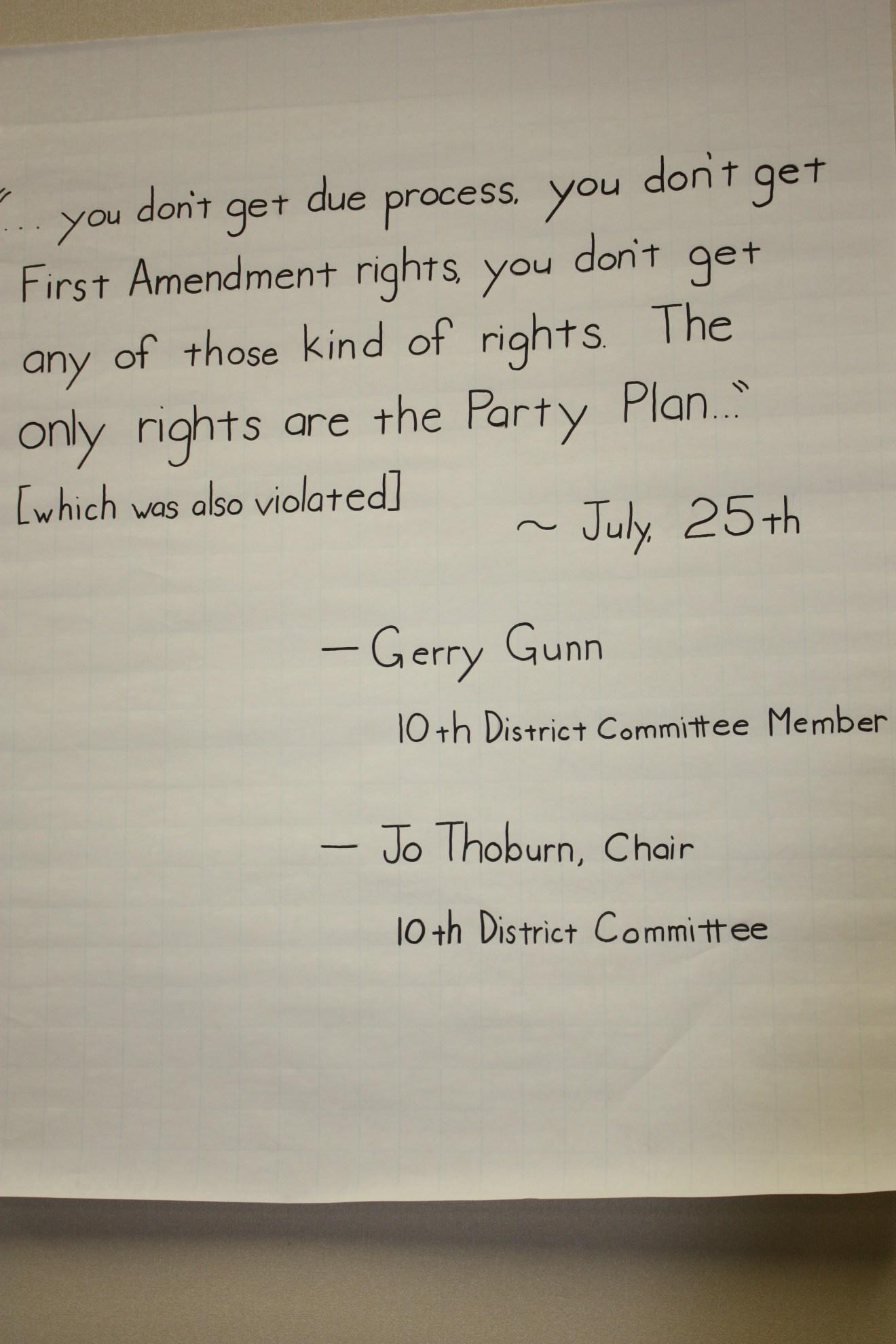 Message Gerry Gunn and JO