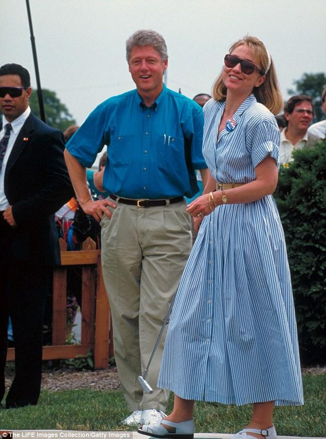 Hillary golfing