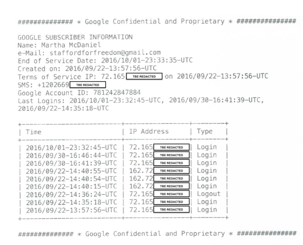 Google Response to Reeves Subpoena - Redacted