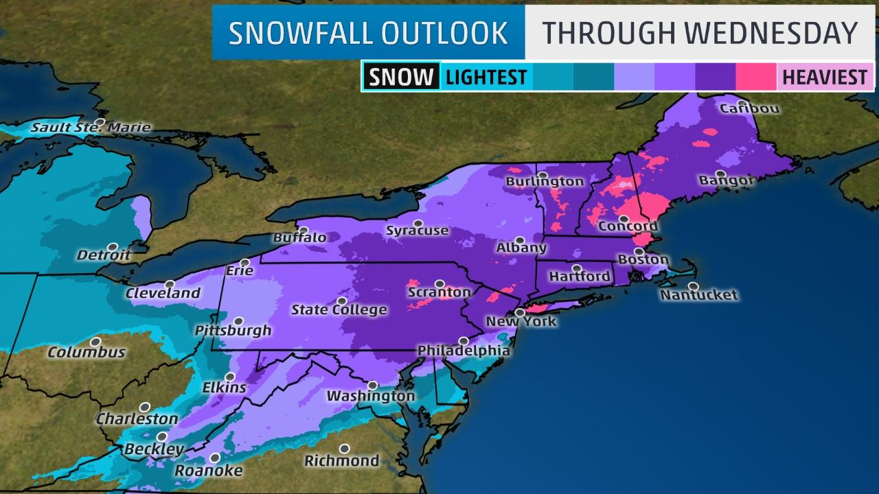 how much snow are we going to update 6 13 with latest